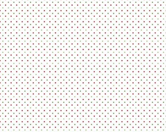 Swiss Dot on White Collection - Christmas - Polka Dot - Quilting Cotton Fabric - Riley Blake Designs  - ( SC660-CHRISTMAS )