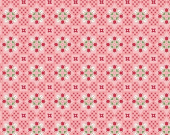 Flea Market Collection - Coral - Applique - Quilting Fabric - Lori Holt of Bee in My Bonnet for Riley Blake Designs - ( C10212-CORAL )