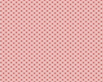 SALE - Prim Collection - Coral - Stripe - Quilting Cotton Fabric - by Lori Holt of Bee in My Bonnet for Riley Blake Designs -( C9705-CORAL )