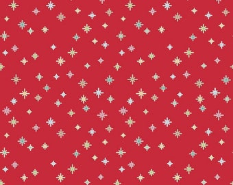 Red - Cozy Christmas Sparkle - Quilting Cotton Fabric - by Lori Holt for Riley Blake Designs ( C5365-RED )