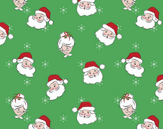 Green - Mr & Mrs Claus - Santa Claus Lane Collection - By Melissa Mortenson of Polka Dot Chair for Riley Blake Designs - ( C9610-GREEN )