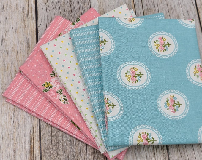 Milk & Honey with Basic - 5 Fat Quarters - Curated Bundle - Elea Lutz for Riley Blake Designs - Quilting Cotton Fabric - ( MH-FQ-1 )