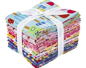 Rainbowfruit Collection - Fat Quarter Bundle - 20 Fabrics - by Amber Kemp-Gerstel of Damask Love for Riley Blake Designs - ( FQ-10890-20 )