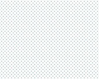 Teal - Swiss Dot on White - Polka Dot - Quilting Cotton Fabric - Riley Blake Designs - ( C660-TEAL )