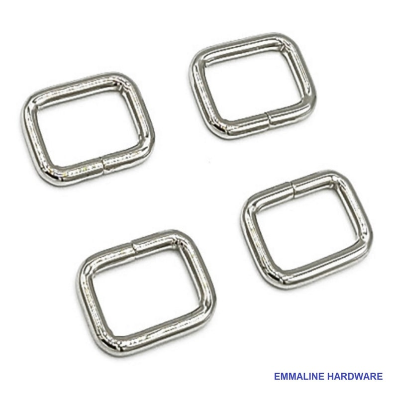 REC-34INCH Bag Hardware by Emmaline - 18mm Rectangle Ring .75 Inch 34 inch Multiple Colors