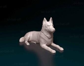 3D Printed Husky Dog Statue