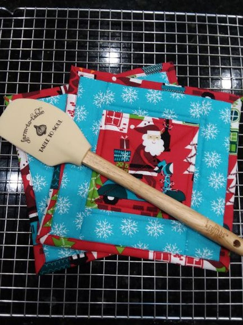 Hot Pads Oven Mitts Agarraderas Christmas Potholders Baking Potholders Cooking Kitchen Trivets Bakers Glove Oven Mitts