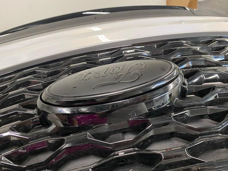 Ford Explorer 2020-2021 Black/Flat Emblem set Grille & | Etsy