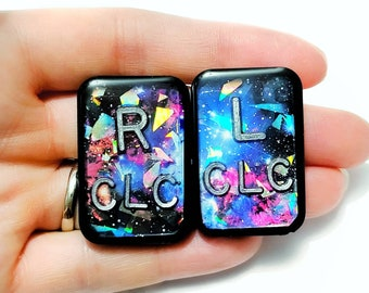Sparkle Overlay Galaxy X-Ray Markers - Xray Markers with Initials Glitter - Nebula X-Ray Marker - Radiology Markers - Rad Tech Gift