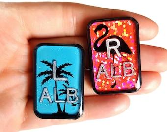 Tropical Xray Markers - Rad Tech Gift - Flamingo XRay Markers - Palm Xray Markers - X-ray Markers with Initials - Glitter X-Ray Markers