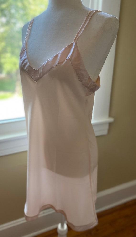 Silk Chemise Slip by Linda Hartman/ size Large/Bl… - image 3