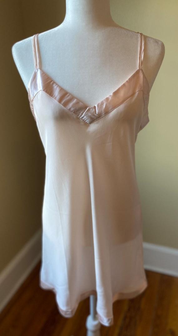 Silk Chemise Slip by Linda Hartman/ size Large/Bl… - image 2