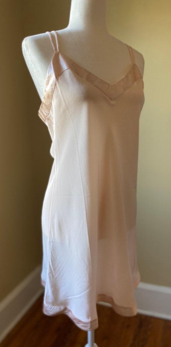 Silk Chemise Slip by Linda Hartman/ size Large/Bl… - image 8