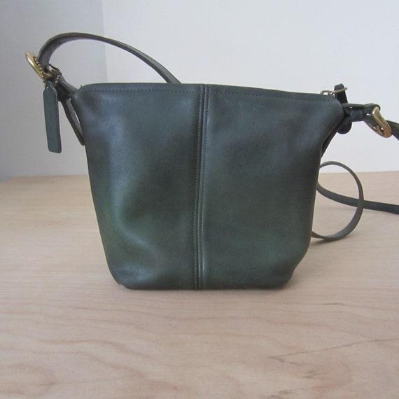 Coach Leather Bag, MacDougal Bag, Green Leather Pu