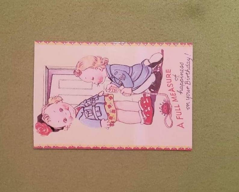 1940s Vintage Birthday Postcards