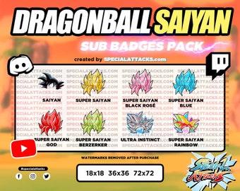 Twitch - Discord Saiyan Sub Badge Pack   Dragonball Z