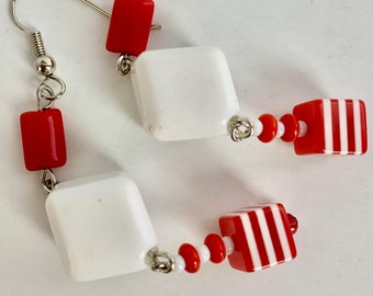 Z256 8mm Faceted Carnelian Diamond-shaped Gemstone Beads Full Strand