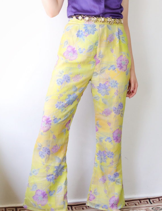 90 does 60s yellow floral pants