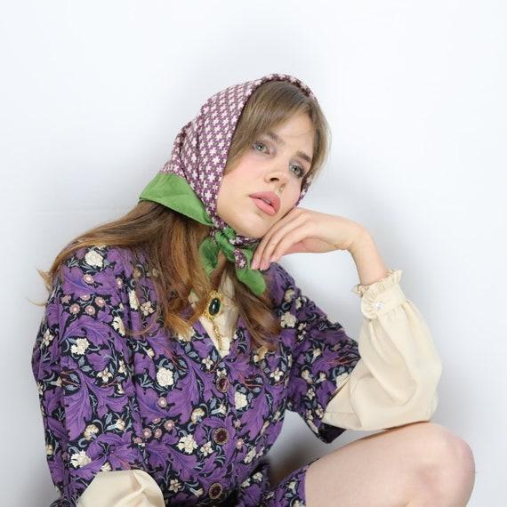 Vintage 70s cotton floral Gucci style dress - image 4