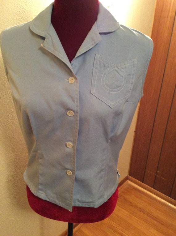 Women's Vintage sleeveless shirt - 40s / 50s era -