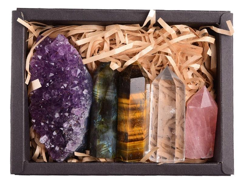 Healing Crystals/Crystal Set/Rose Quartz Crystal/Healing image 0