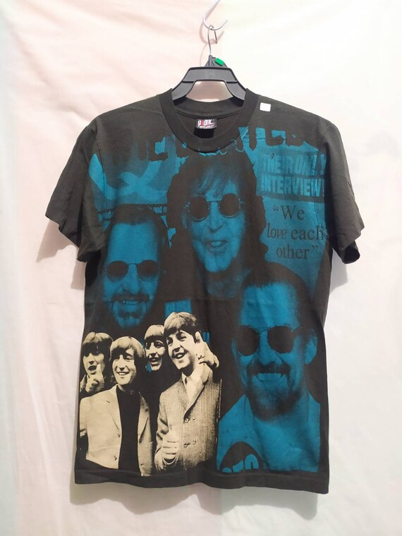 The beatles t-shirt 90's Giant vintage all over pr