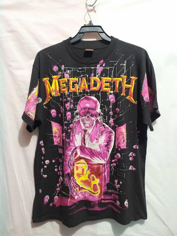 Megadeth t-shirt 90's Brockum vintage style all ov