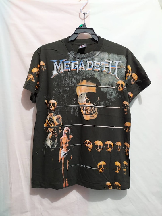 Megadeth t-shirt 90's Giant vintage style all over