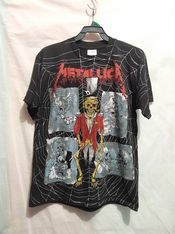 Metallica t-shirt 90's brockum vintage all print
