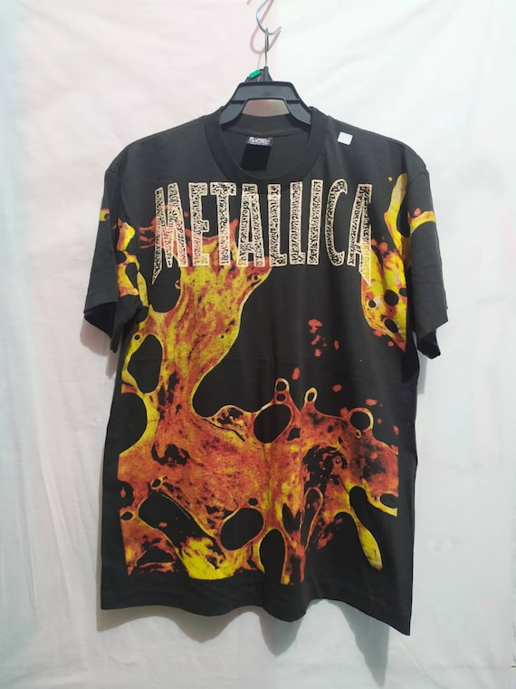 Metallica t-shirt 90's Giant Vintage all print Use