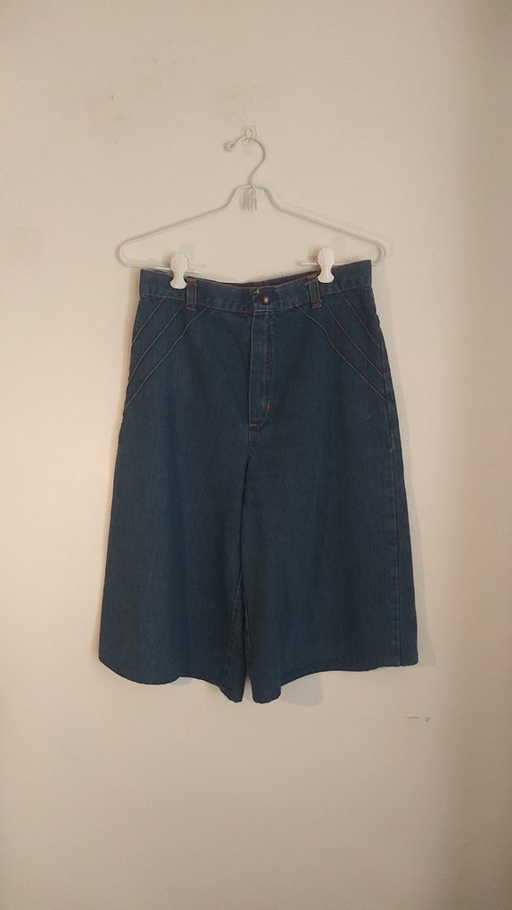 Vintage Denim Gauchos / 60's or 70's