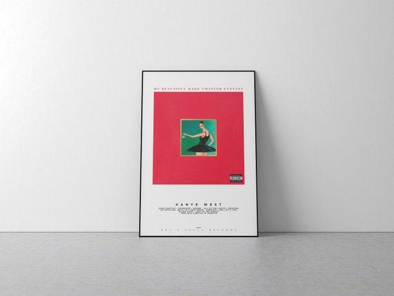 My Beautiful Dark Twisted Fantasy Kanye West Album Poster Etsy