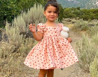Marigold Top, Mini , Dress PDF Digital Sewing Pattern Girls Dress Sewing Pattern, Circle Skirt Dress, Tween style, puff sleeve