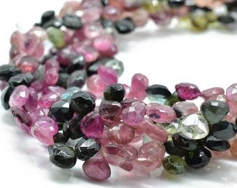 Petro Tourmaline Heart Shape Beads Natural Gemstone Petro Tourmaline Briolette Faceted Heart  Beads AAA+ Quallity