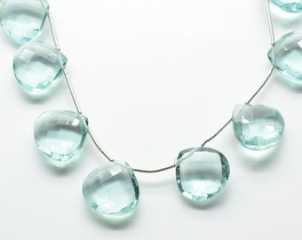 Sky Blue topaz 14mm Heart Shape Briolettes,Side drilled Briolette,Jewelry making supplies,craft supplies,Sky Blue topaz Briolette,Gemstone