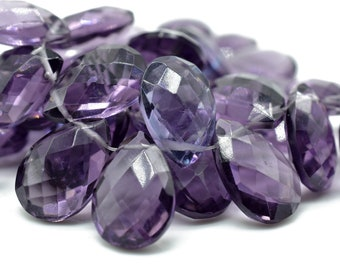"NEW 16x16mm Amethyst Flat Heart-shaped Beads 15/""AAA"