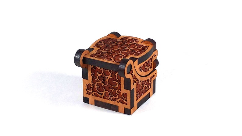 Digital Product. Laser Cut files 14 inch or 5mm thick material options SVG /& DXF EngagementWedding Ring Box design