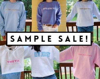 College Apparel Kappa Alpha Theta Sweatshirt SAMPLE SALE Sorority Apparel Bucknell Sweatshirt Theta Crewneck
