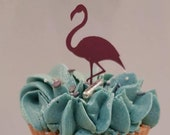 Flamingo (set of 6) Cupcake Toppers