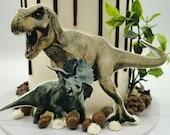 Dinosaur themed edible print