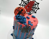 Spiderman themed edible prints for cakes and cupcakes