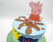 Personalised Peppa Pig themed edible print