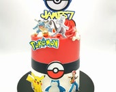 Pokemon themed edible prints for cakes and cupcakes