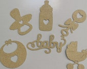 Baby Shower / Baby Christening / Baby Birthday  (set of 6) Card Cupcake Toppers