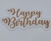 Happy birthday acrylic floating cake charm