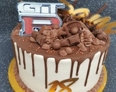 Number acrylic cake charm