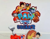 Paw Patrol themed cake topper / Personalised Paw Patrol themed cake topper package /  Name and Age Paw Patrol themed cake topper package