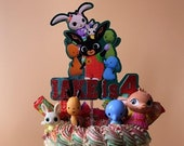 Bing themed cake topper / Personalised Bing themed cake topper package / Name and Age Bing themed cake topper package