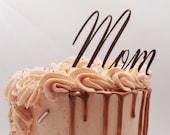 Personalised name acrylic cake charm