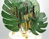 Wild themed acrylic bubble cake charm / Wild themed cake topper package /  Wild One cake topper package / Wild Age cake topper package